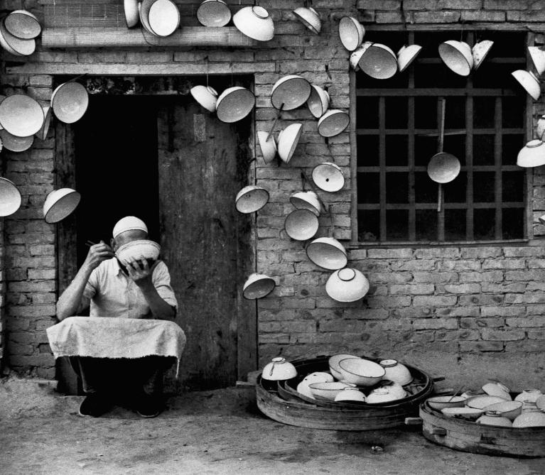 Artwork by:  Hei Ming. Artwork title: Iron Rice Bowls