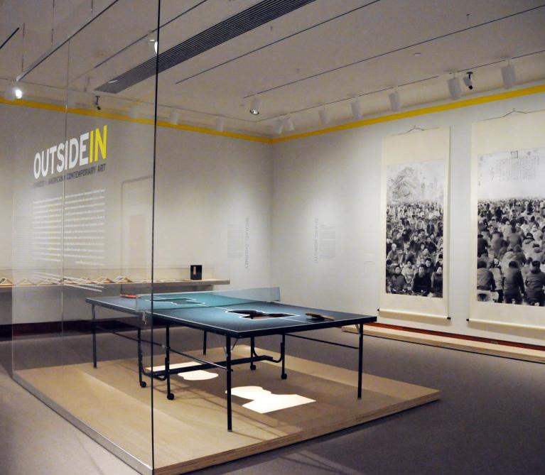 Installation view of Outside In exhibition