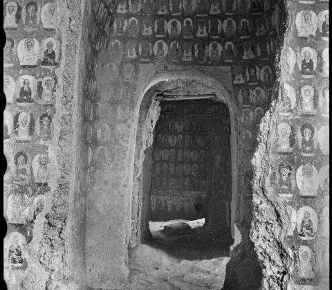 Artwork by:  Lo ArchiveM . Artwork title: Mogao Cave 268, North Wall