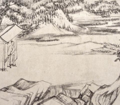 Detail of handscroll by QIao Zhongchang